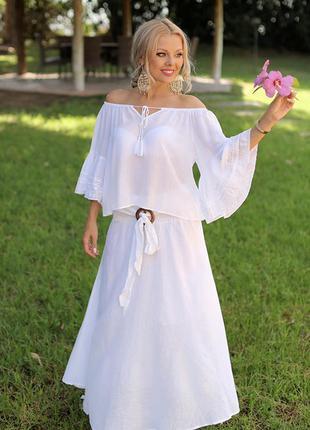 Хлопковая шикарная блуза тм fresh cotton новая коллекция