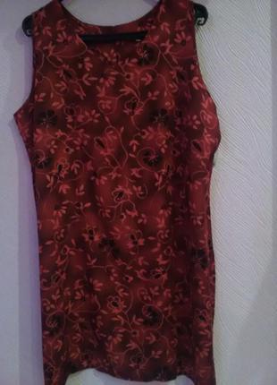 Летнее платье с цветочним принтом фирми prima кололевского размера