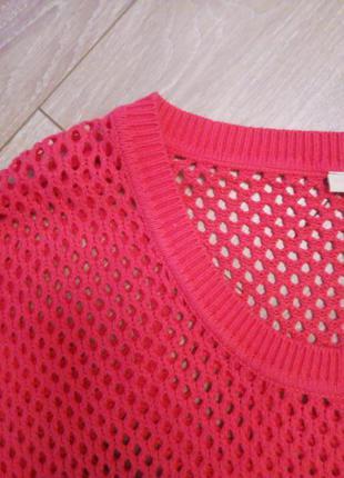 Эффектный сетчатый пуловер оверсайз с коротким рукавом для летнего вечера!!!