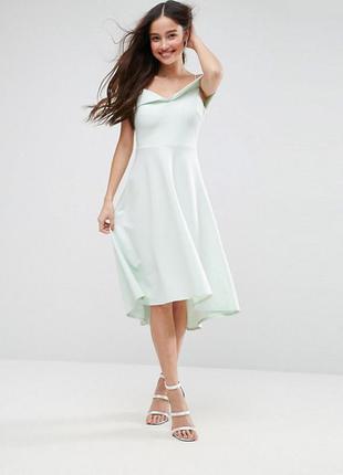 Мятное неопреновое платье asos,р-р 10