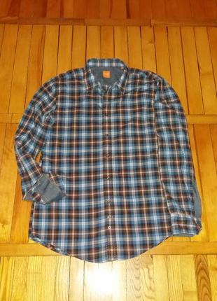 Мужская рубашка hugo boss размер l
