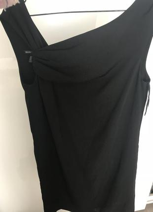 Чёрное мини платье