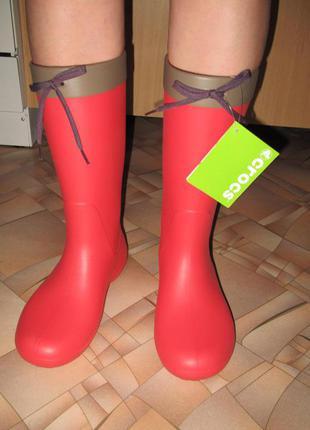 Резиновые сапоги crocs w8 стелька 24,6см на ногу 23,5-24,0см