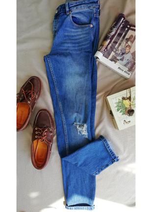 Skinny, джинсы с высокой посадкой