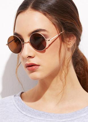 Стильный аксессуар орехово-коричневые очки 100%uv400-защита