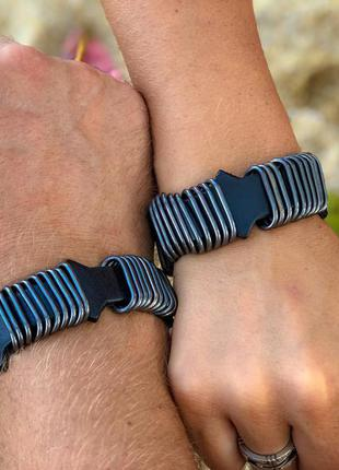 Крутой комплект кожаных браслетов oh&она из коллекции итальянских браслетов в стиле dizel.