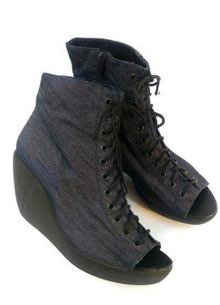 Vagabond стильные джинсовые ботильоны с открытым носком, шнуровка