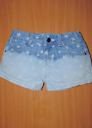 Шорты джинсовые в звездочку на девочку или подростка