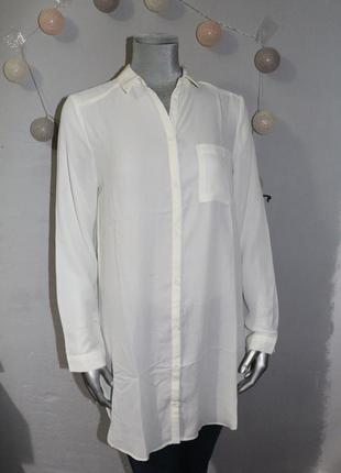 Удлиненная блуза рубашка chicoree