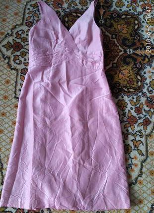 Нарядное шёлковое платье )