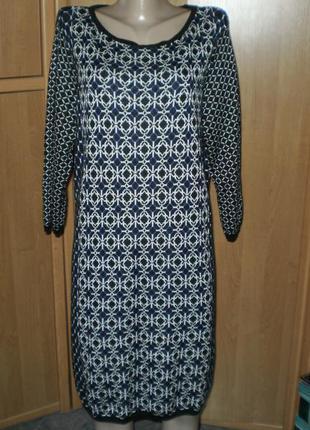 Очаровательное теплое платье от  george р. 22 батал!!