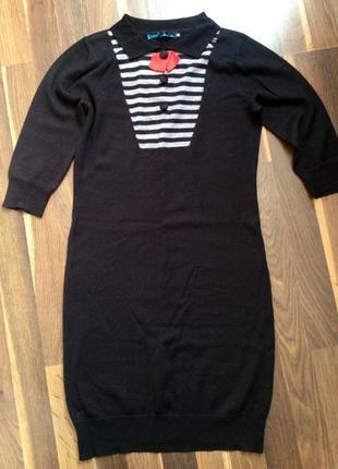 Трикотажное короткое платье, туника befree
