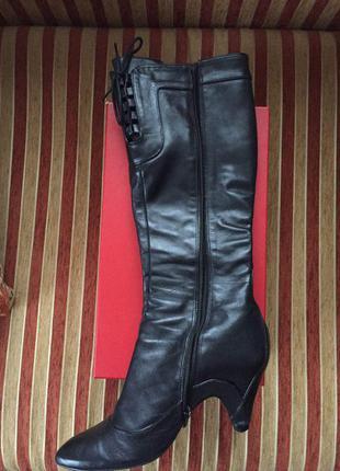Кожаные сапоги bronx 40 размер