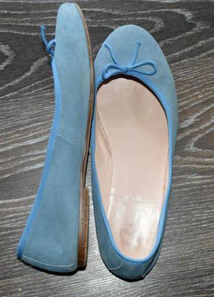 Балетки туфли натуральная замша кожа bata испания