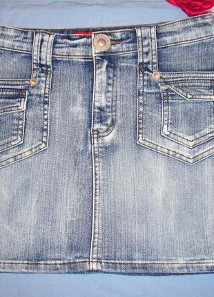 Юбка джинсовая размер 40 / 6- 8 xs короткая мини женская miss posh женская крутая