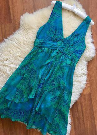 Шёлковое летнее платье от zara