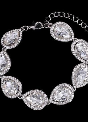 Свадебный выпускной браслет камни