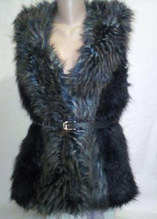 Модная жилетка из искусственного меха  h&m размер l-40-12