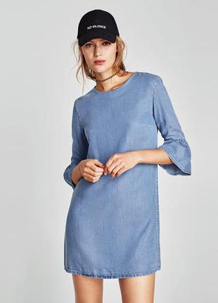 Zara джинсовое платье , l