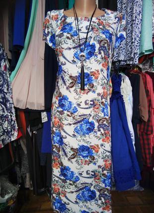 Стильное легкое платье натуральная ткань