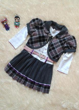 Нарядное платье с болеро, размер 92, mali kon