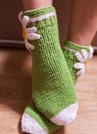 Носочки ручной работы ромашка