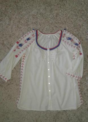 Стильная блуза monsoon с вышивкой р uk 14