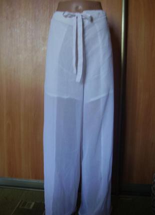 Пляжные лёгкие брюки- порео из милана универсал. от 60 - 100 см талия 100% вискоза