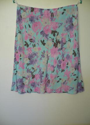 Женская юбка, легкая, летняя, нежная в цветок
