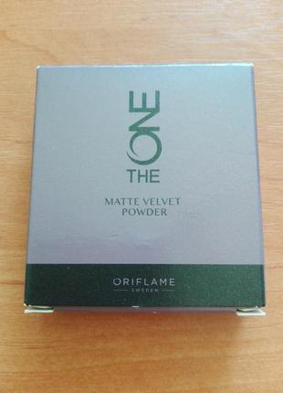 Компактная матирующая пудра the one matte velvet