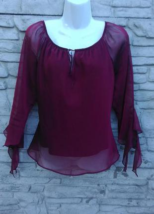 Распродажа!!! нарядная блуза бордового цвета