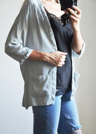 Скидки!!! кардиган с карманами из легкой ткани