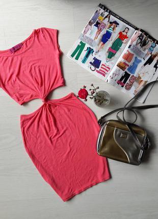 Платье трикотаж с коротким рукавом бренд boohoo