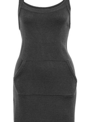 Теплое и практичное вязаное платье-сарафан бонприкс bonprix