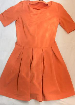 Оранжевое короткое платье kira plastinina