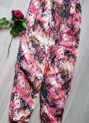 Шелковые штаны широкие пляжные свободные фирменные