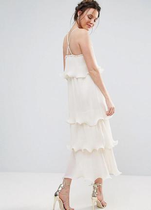 Элитное ярусное платье на бретельках с оборками true decadence tall