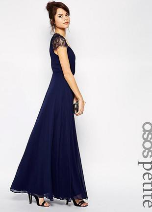Гарячий розпродаж тільки до 15 вересня!! кружевное платье макси asos petite