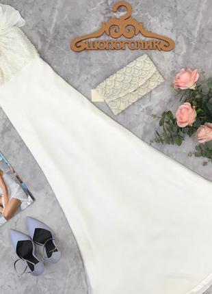 Идеально белоснежное платье с расшитым топом  dr1823058