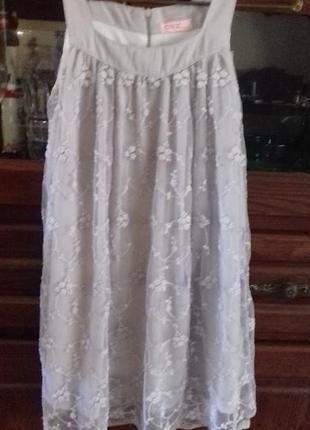 Очень нежное кружевное платье