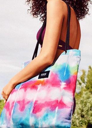 Пляжная сумка-полотенце pink victoria's secret