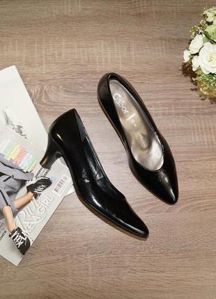 (38р./25см) gabor! кожа! красивые классические туфли