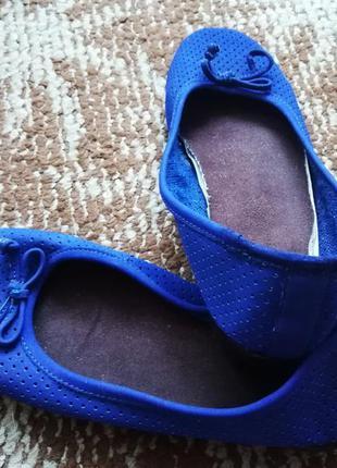Ярко-синие балетки
