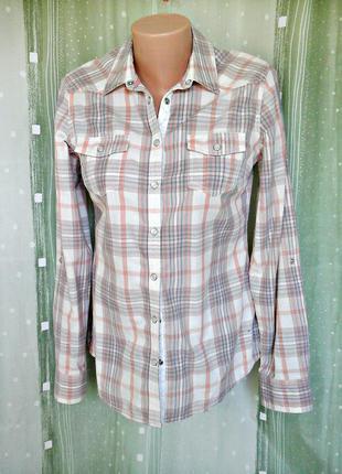 Суперкачественная рубашка на кнопках, 100% хлопок
