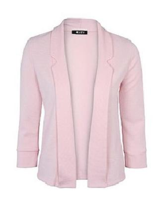 Пудрово розовый блейзер/жакет/пиджак