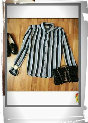 Шикарная блузка/рубашка в полоску, англия, р м-л