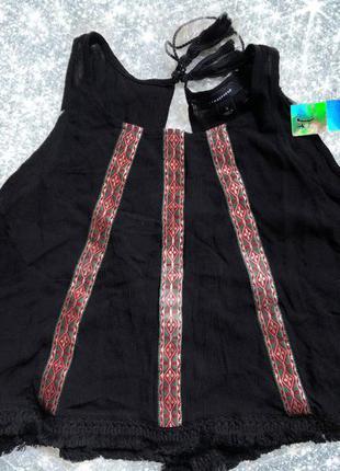 Блуза/ майка этно стиль с кисточками.