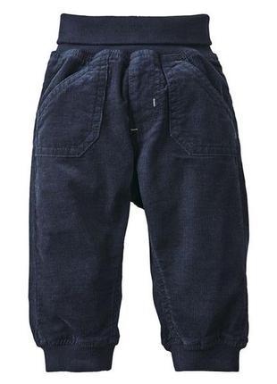Вельветовые штаны для мальчика lupilu размер 62 см