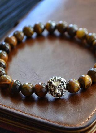 Браслет камень тигровый глаз
