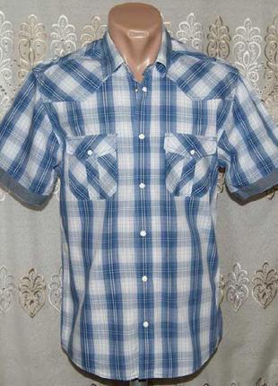 Рубашка в клетку на кнопках